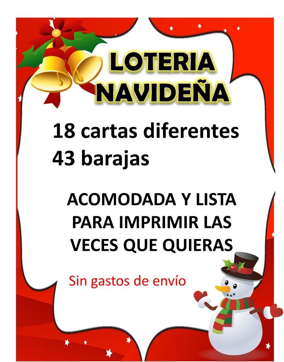 Loteria Navidena Y Juegos De Navidad Imprimibles 85 00 En