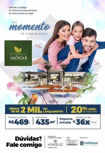 lotes 300 m2 residencial valência iii - presidente prudente  - t-050