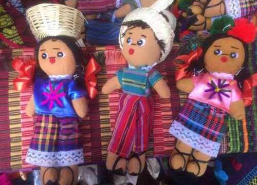 lotes 6 muñecos de trapo artesanales mexicanos