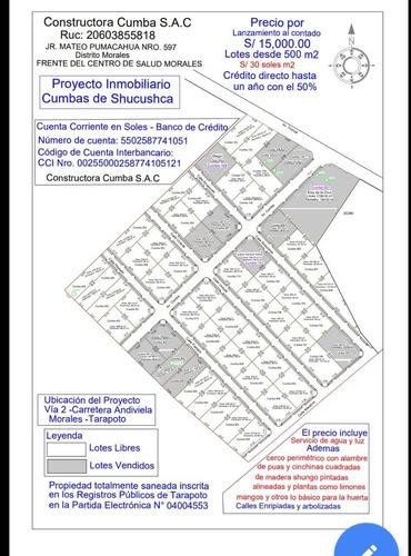 lotes de terreno 500 m2   en  tarapoto