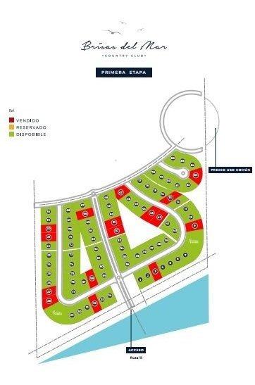 lotes en barrio brisas de mar. en pesos  y financiado. ruta 11 a 10' del centro de mar del plata.