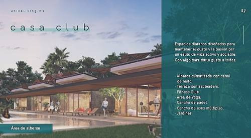 lotes en preventa, pivada unica living, casa-club, fitness-club, gourmet-kitchen