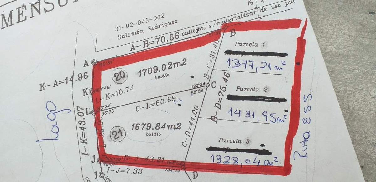 lotes en venta sobre ruta e-55. (l81)