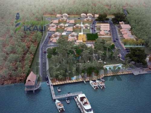 lotes frente al rio tuxpan, terrenos en nuevo desarrollo inmobiliario, fraccionamiento 'el huerto del bambú'  frente al rio tuxpan en juana moza, tamaños que van desde 200 a 400 m², area común de res