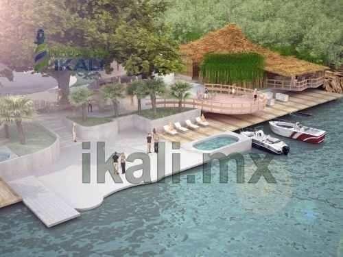 lotes frente al rio tuxpan, terrenos en nuevo desarrollo inmobiliario, fraccionamiento 'el huerto del bambú' frente al rio tuxpan en juana moza, tamaños que van desde 200 a 400 m², area común de rest