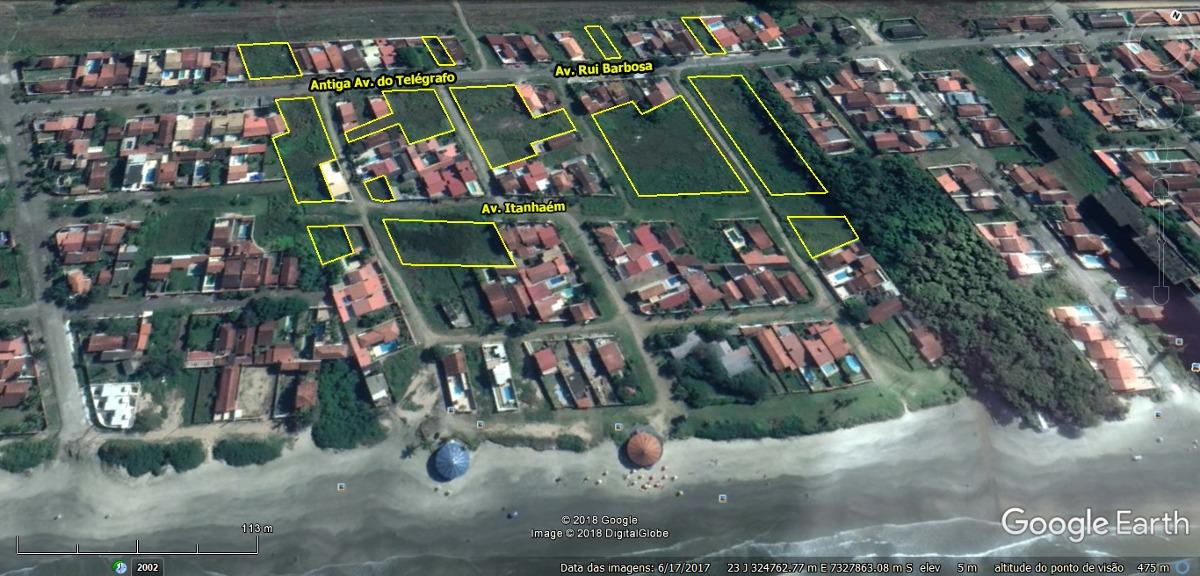lotes na praia para construção 18.000 m²