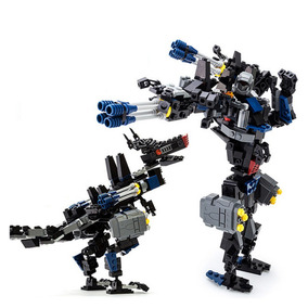 Lego Robot Mech Bombeiro Fireman Transforms - Brinquedos e
