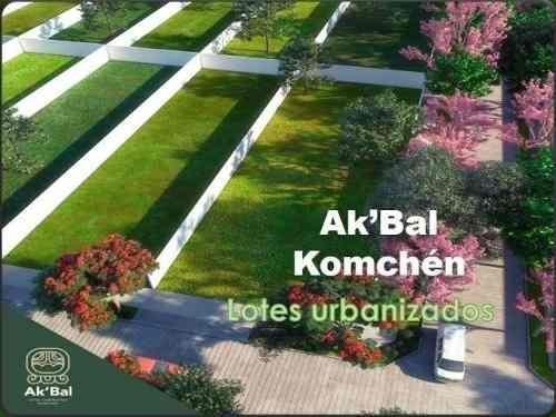 lotes residenciales en akbal komchen desde 750m2 a 900m2