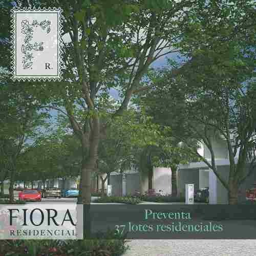 lotes residenciales en privada en avenida principal, fiora residencial, preventa