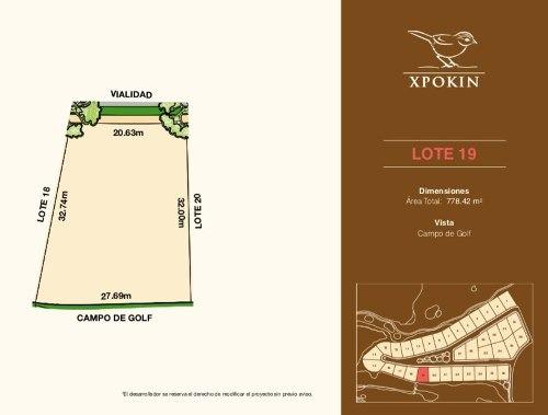 lotes residenciales privada xpokin,  vista a campo de golf  yucatán country club