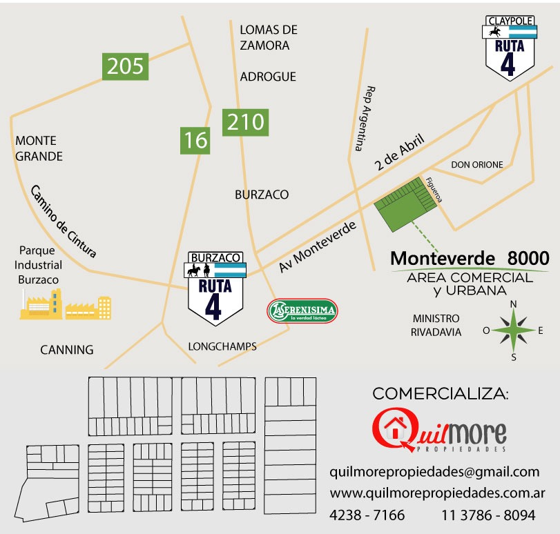 lotes zona sur para vivienda en monteverde - claypole