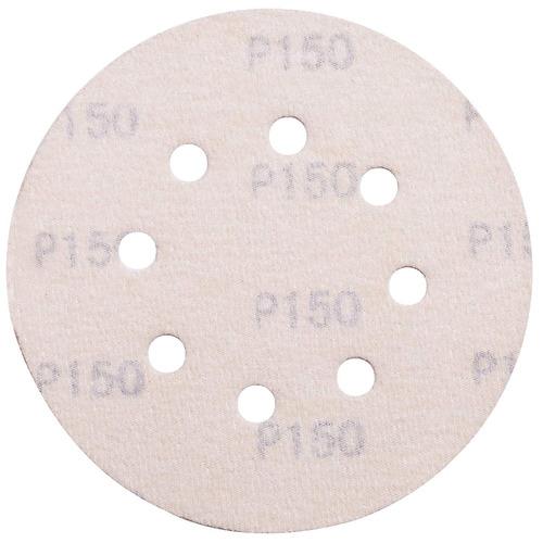 lotfancy papel de lija de 5 pulgadas 8- agujero 150 arena si
