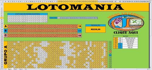 lotomania 80 dez reduzidas em 3 grupos de 70 dez 45 jogos