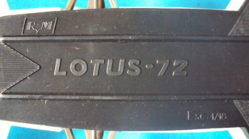 lotus 72 formula 1 rym brabham ind arg juguete antiguo