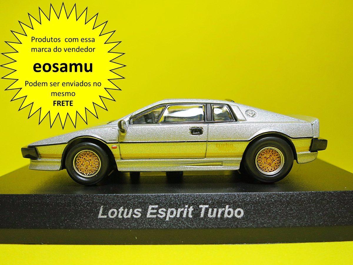 Lotus Esprit Turbo Prata Kyosho Escala 1 64 Lancamento