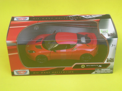 018d0e150196 Lotus Evora S Escala 1 24 Motor Max Rojo -   1.460