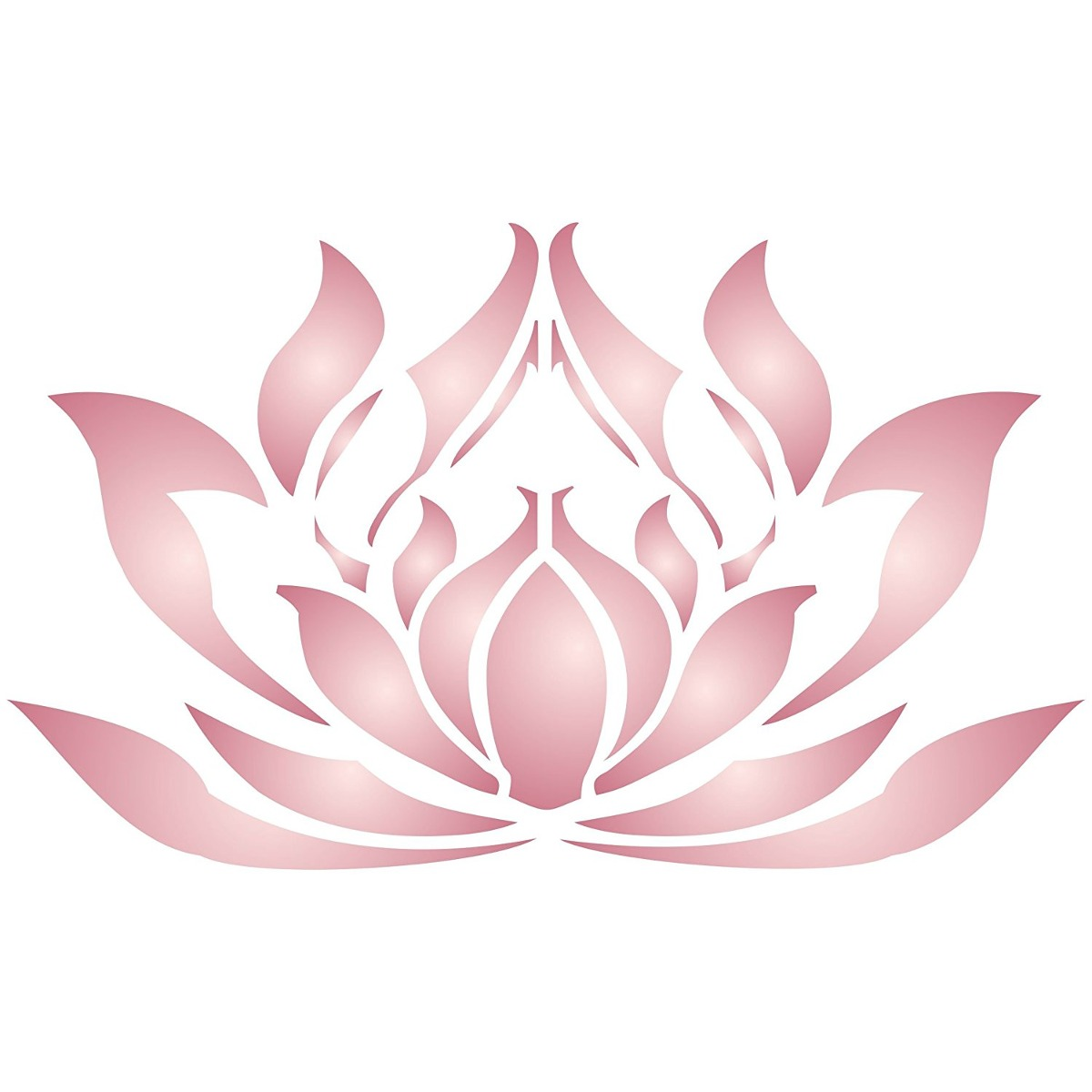 Lotus Flower Stencil Size 11w X 65h Reusable Wall Ste
