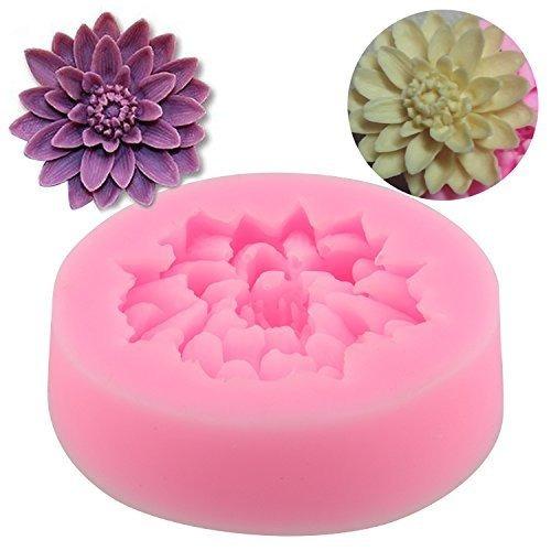 lotus forma caramelo de chocolate jello 3d del molde del si