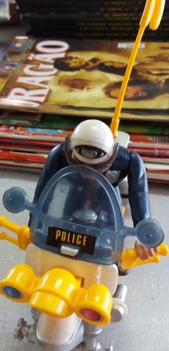 loucademia de policia moto crash cycle - warner bross 1989