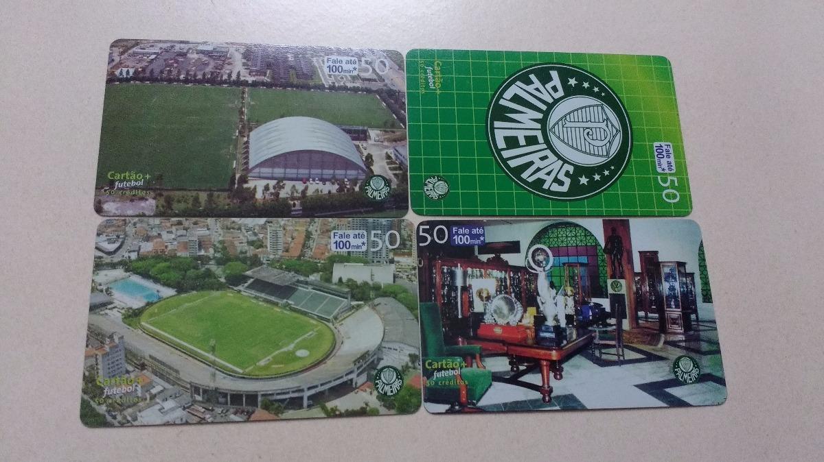 1290508ff4 Loucura Cartões Do Palmeiras (4 Cartões) Telefônica - R  15