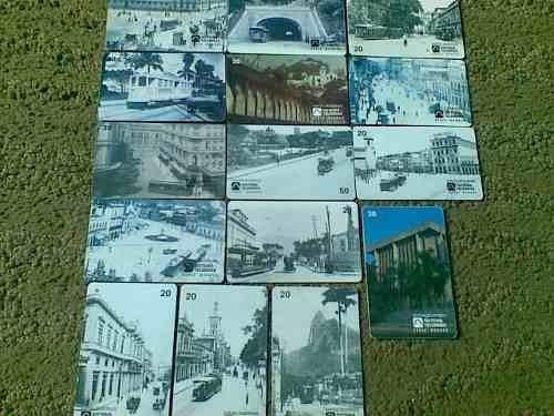 loucura série bondes completa(15 cartões) telebras