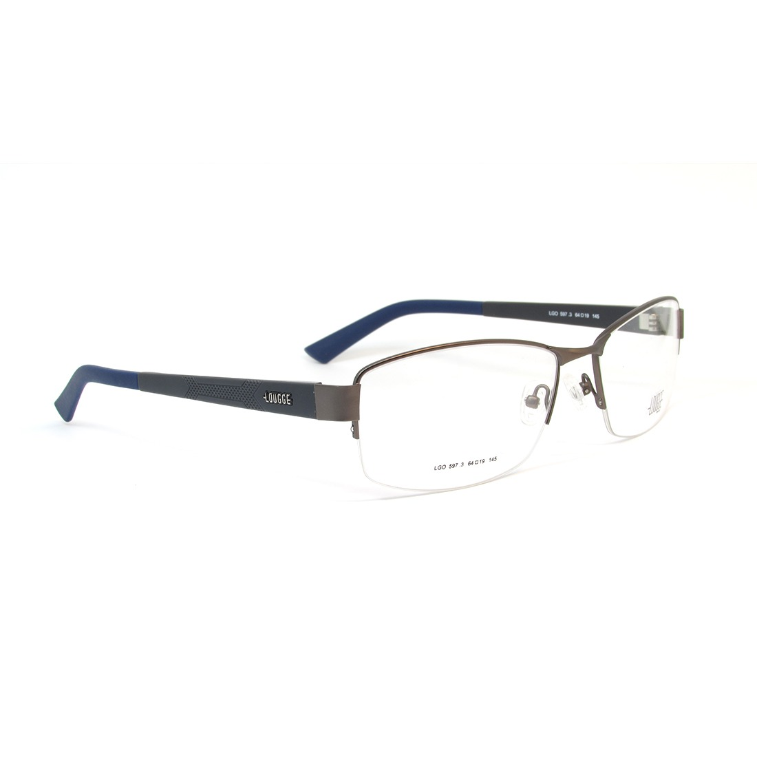 d56e0d77b56fb Lougge Lgo 597 Óculos De Grau - R  451