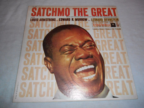louis armstrong and edward r murrow - lp vinil leonard berns