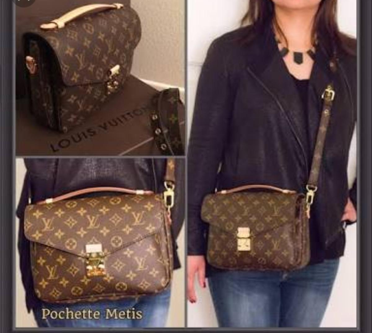 b4d3822951f Maravilhosa Bolsa Louis Vuitton Pochette Métis Canvas - R  1.050