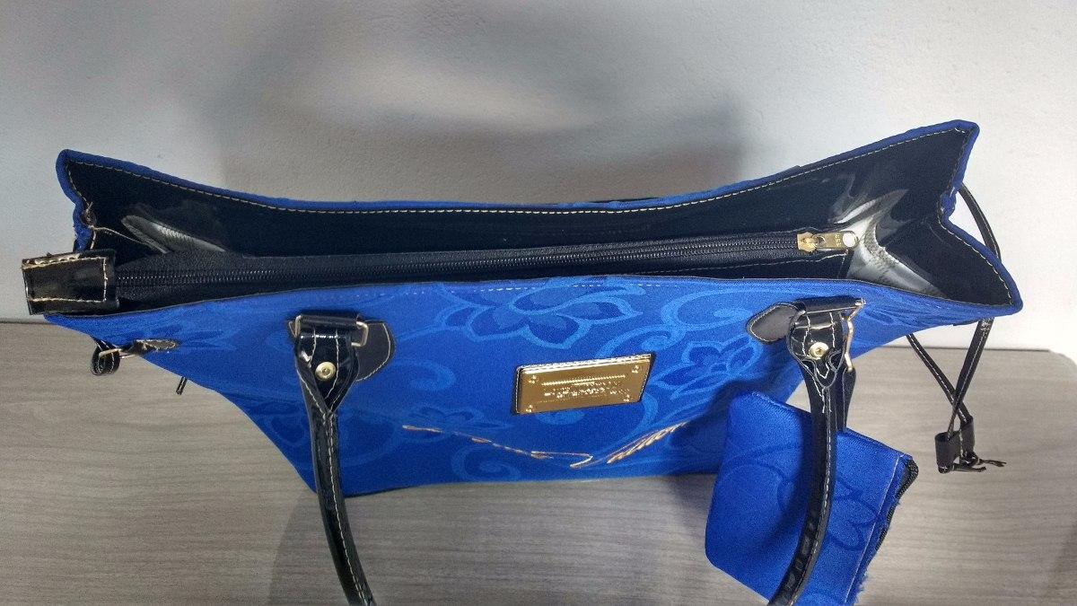 f3a70bda3 Carregando zoom... bolsa feminina louis vuitton azul com zíper e forrada.