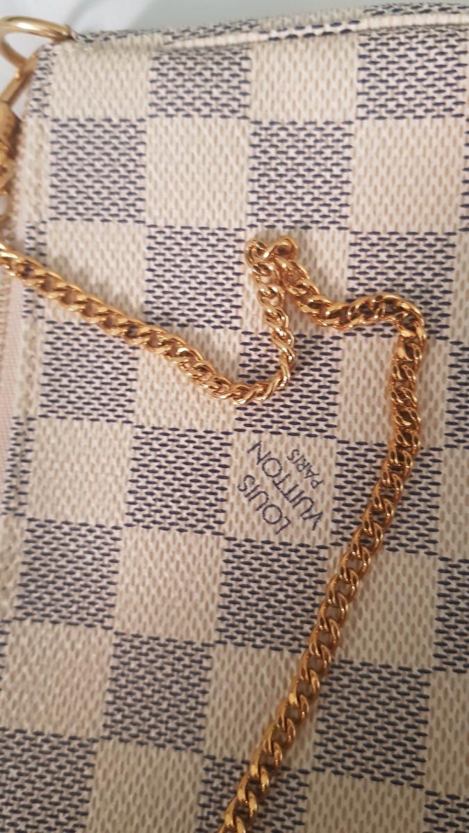 Mini Pochette Louis Vuitton Damier Azur - R  975,00 em Mercado Livre d23f7ba6e5e