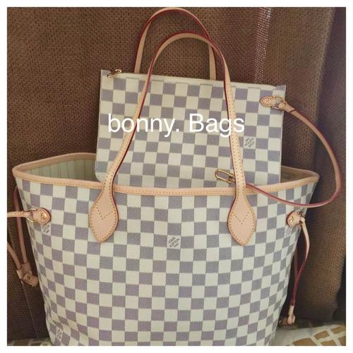 5ec34b685 Louis Vuitton Neverfull Damier Azur Lv Bolsa!!! - $ 7,500.00 en Mercado  Libre
