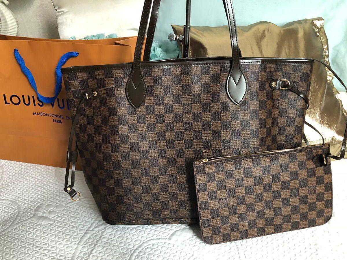 76cd0e725 Louis Vuitton Neverfull Ebene Mm Remate!! - $ 4,500.00 en Mercado Libre