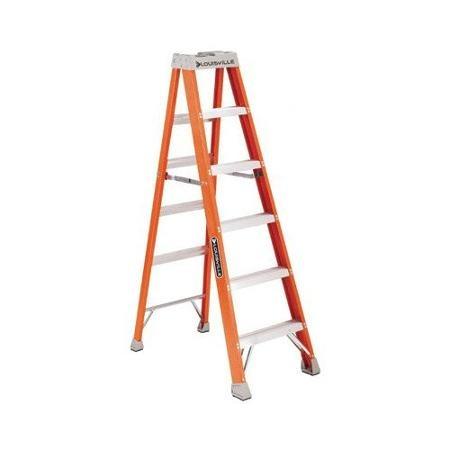 Louisville ladder 5 ft de fibra de vidrio escalera de mano - Escalera fibra de vidrio ...