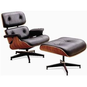 Lounge Chair Negro / Negro 100% Cuero