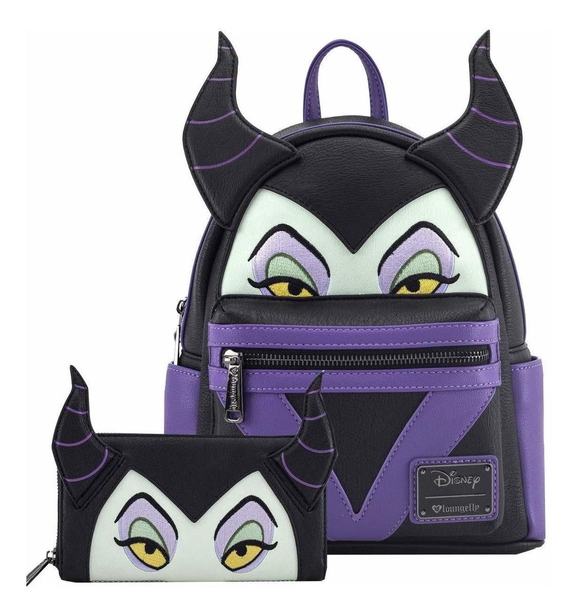 Loungefly Mini Mochila Y Cartera De Disney Maleficent D