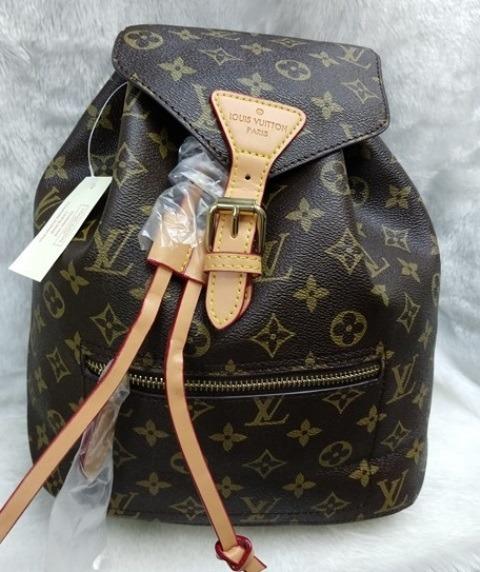 c5d1f5fb6a Lous Vuitton Mochila Montsouris Monogram - R$ 289,00 em Mercado Livre