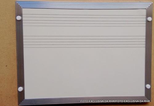 lousa branca 2 pentagramas p/ música - tamanho 2,00m x 1,20m