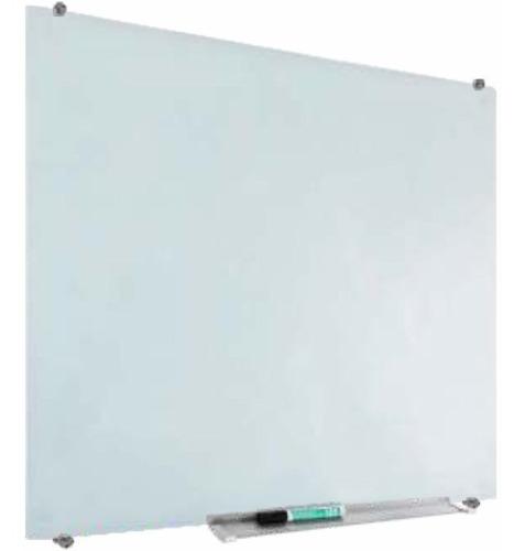 lousa de vidro magnetica mural painel recados branco 60x90cm