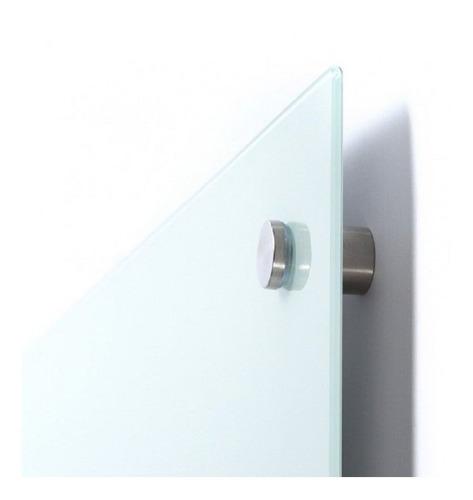 lousa de vidro temperado branca 1,20 x 0,90