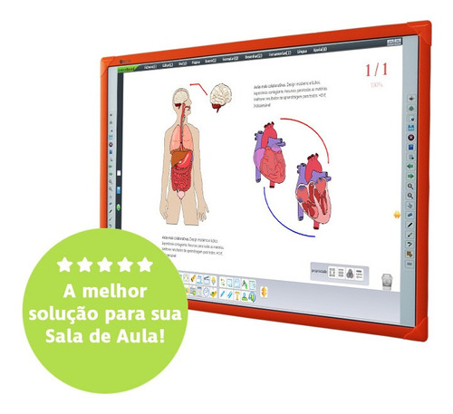 lousa digital  82    touchscreen multi toque colors