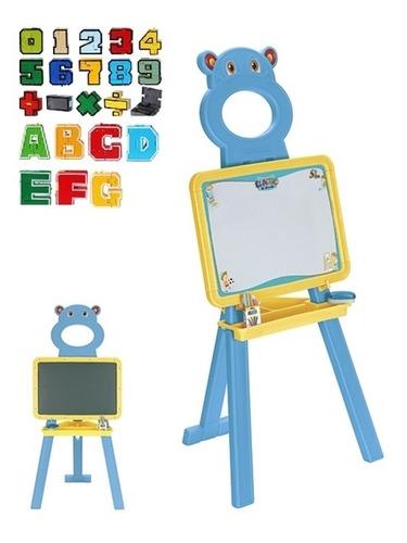 lousa infantil com cavalete e 52 letras e numeros pedestal