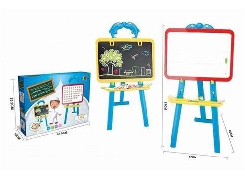 lousa infantil com cavalete e kit didatico com letras numero