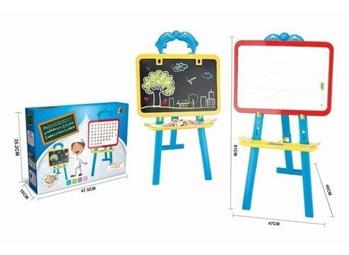 lousa infantil com cavalete pedestal kit didatico completo