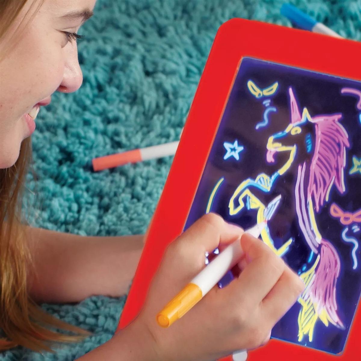 Lousa Mágica 3d Led Neon Pad Tablet Infantil Desenho Colorir - R$ 150,68 em  Mercado Livre