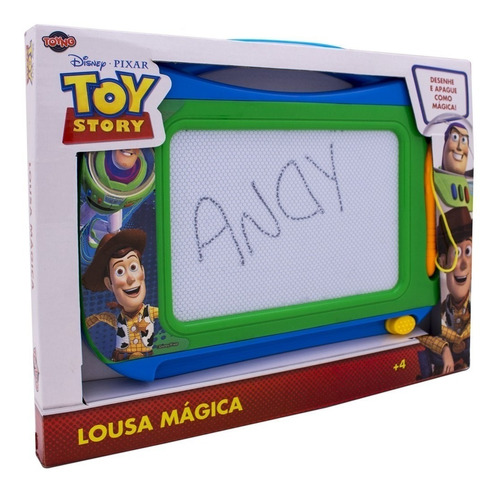 lousa mágica com caneta toy story - toyng