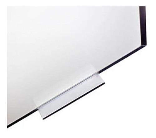 lousa quadro branco anotações moldura de alumínio 90x60 cm