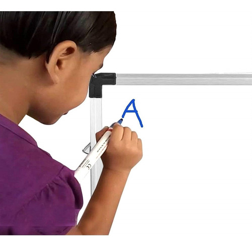 lousa quadro branco em aluminio magnetico grande aviso 45x60