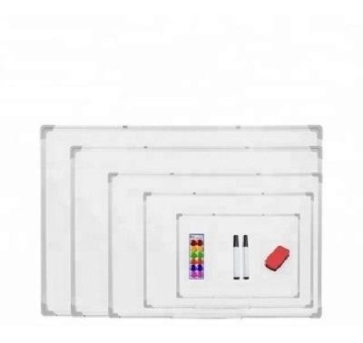 lousa quadro branco magnetico avisos aluminio 50x35cm grande