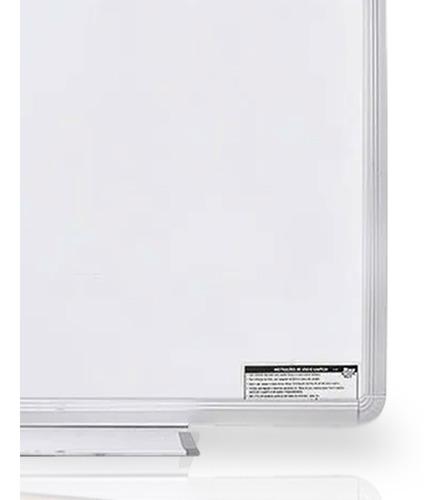 lousa quadro branco moldura de aluminio 70x50 cm + brinde