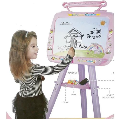 lousa quadro magnetico kit didatico educativo rosa menina